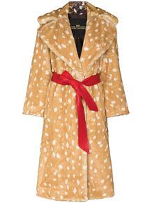 пальто с поясом и анималистичным принтом Marc by Marc Jacobs 1549191776