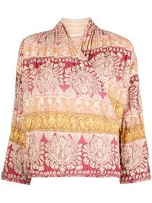 блузка с запахом и узором MES DEMOISELLES 1646137283