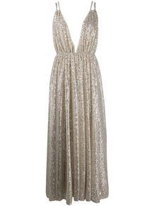 вечернее платье с пайетками и глубоким декольте Amen 150617175250