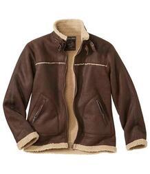 Куртка из Искусственной Замши с Подкладкой из Шерпы AFM 3368991
