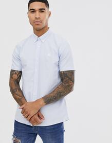 Голубая оксфордская рубашка с короткими рукавами -Голубой Pretty Green 8242692