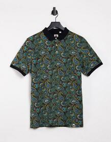 Футболка-поло с принтом пейсли Marsham-Многоцветный Pretty Green 10567033