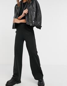Черные широкие брюки -Черный Only 11061072