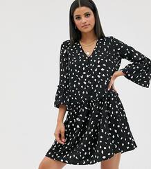 Свободное платье с рукавами клеш -Многоцветный Vero Moda Tall 8706339