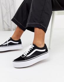 Черные кроссовки на платформе - Old Skool-Черный цвет VANS 8364465