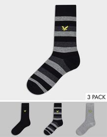 Набор из трех пар носков (серые в полоску) -Серый Lyle & Scott 11300271