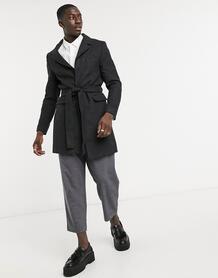 Легкое шерстяное пальто -Черный BOLONGARO TREVOR 10618352