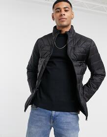 Черная дутая куртка -Черный Burton Menswear 10613638