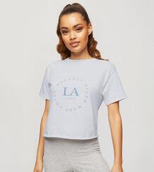 """Белая футболка с принтом """"LA"""" -Белый Miss Selfridge Petite 11295416"""