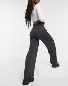 Серые брюки из джерси с широкими штанинами -Серый Only 10848529