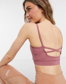 Розовый кроп-топ для активного отдыха с бретельками x Courtney Black In The Style 10980736