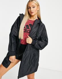 Черная куртка с капюшоном adidas x Karlie Kloss Training-Черный цвет 9917321