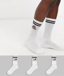 Набор из 3 пар мужских белых спортивных носков -Белый Ellesse 9971660