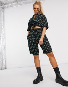 Пляжные шорты от комплектас принтом-Черный цвет Motel 10139418