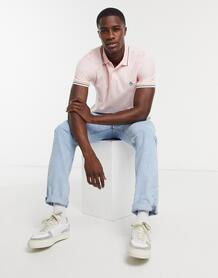 Хлопковая футболка-поло из пике с короткими рукавами-Розовый цвет Original Penguin 10536013