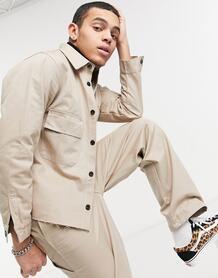 Светло-коричневая куртка с карманами в рабочем стиле -Коричневый цвет Vintage Supply 10580347
