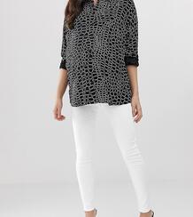 Белые джинсы скинни с завышенной талией и посадкой под животом ASOS DESIGN Maternity-Белый Asos Maternity 7760333