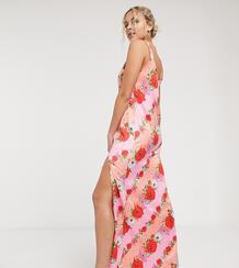 Платье макси на бретелях с цветочным принтом -Многоцветный Twisted Wunder 9562180