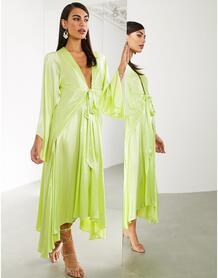 Платье миди с широкими рукавами -Желтый ASOS Edition 9513094