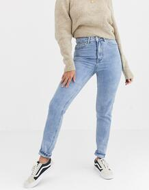 Светлые джинсы в винтажном стиле с завышенной талией -Голубой Vero Moda 10032709