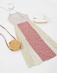 Платье мини с цветочным принтом -Многоцветный LOLA MAY 10100237