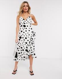 Платье в горошек -Белый Forever U 9689497