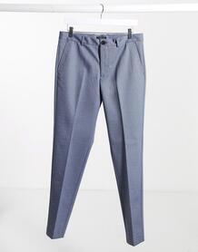 Синие узкие брюки с принтом -Синий SELECTED 10086326