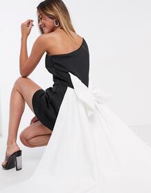 Монохромное платье мини с большим бантом Black Label-Многоцветный True Violet 10008919