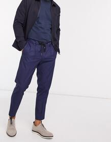 Темно-синие зауженные брюки до щиколотки -Темно-синий SELECTED 10439833