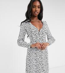 Платье мини с V-образным вырезом -Черный цвет Glamorous Tall 10211390