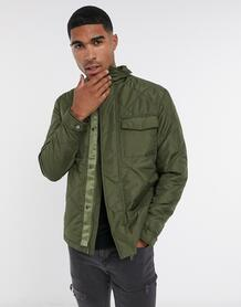 Стеганое пальто цвета хаки-Зеленый цвет SELECTED 10488520