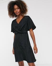 Платье миди с узелком -Черный Y.a.s 9004252