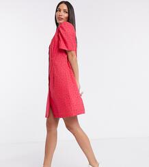 Платье-рубашка мини -Розовый цвет Glamorous Tall 10004619