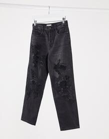 Джинсы в винтажном стилес отделкой -Черный Miss Sixty 10189732