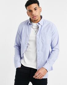 Голубая оксфордская рубашка -Голубой SELECTED 11533540