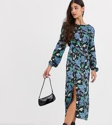 Платье миди с цветочным принтом -Черный Glamorous Tall 8930656