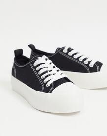 Черные кеды Dessy-Черный цвет ASOS DESIGN 10841887