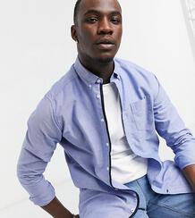 Оксфордская рубашка на пуговицах с длинными рукавами -Голубой Duke 10950290