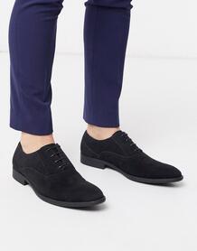 Черные оксфорды из искусственной замши -Черный цвет ASOS DESIGN 9365675
