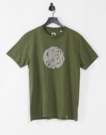 Футболка цвета хаки с логотипом Gillespie-Зеленый цвет Pretty Green 11170170