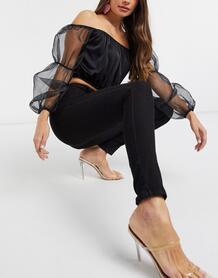 Черные джинсы скинни с карманами -Черный NA-KD 10649504
