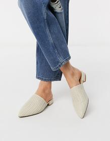 Мюли с острым носком -Белый ASOS DESIGN 9451317