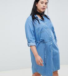 Голубое джинсовое платье Plus-Голубой Levi's® 9391291