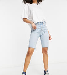 Светлые удлиненные шорты в стиле 90-х из смесового органического хлопка ASOS DESIGN Tall-Голубой Asos Tall 11059222