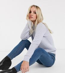 Синие джинсы скинни -Голубой Vero Moda 7613079