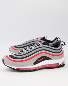 Красно-серые кроссовки Air Max 97 SE-Красный Nike 11740599