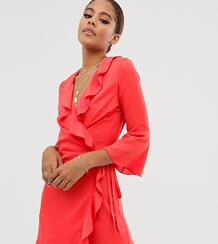 Платье с запахом и рукавами клеш -Оранжевый Outrageous Fortune Tall 8814654