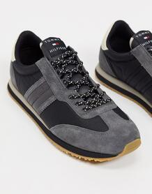 Черные кроссовки для бега в стиле ретро с логотипом сбоку -Черный Tommy Hilfiger 10506109