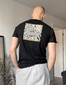 Черная футболка с принтом на спине Rapid Ridge-Черный цвет Columbia 11352114