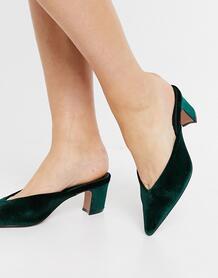 Зеленые мюли на среднем каблуке Siena-Зеленый ASOS DESIGN 10839749
